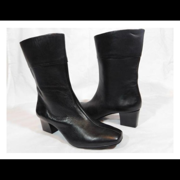 Black New Mod Leather Ankle Boot